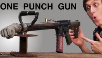 Backyard Scientist Builds A Gun That Can Punch Through Anything, Proceeds To Smash Everything That Gets In His Way