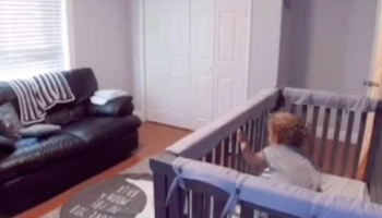 Toddler Escapes From Crib In The Most Graceful Way
