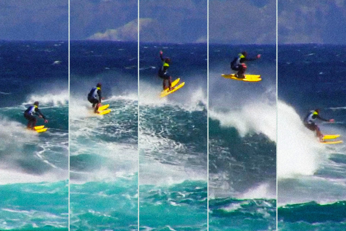 How I Skied — Yes, Skied — Down The Face Of Hawaii's Biggest Waves