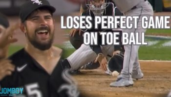 How A Toe Ball Ruined This Pitcher's Perfect Game