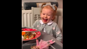 Sassy 3-Year-Old Scottish Girl Argues With Uncle And Tells Him To Shut Up