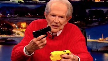 Pat Robertson Couldn't Believe That Police Could Mix Up A Taser For A Handgun