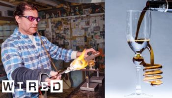 Professional Glass Blower Gives An Eye-Popping Demonstration On Making A Beautiful Drinking Glass