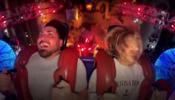 Guy Loses Fake Tooth During Slingshot Ride, Handles It Like A Champ