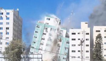 Watch This Building In Gaza Housed By AP And Al Jazeera Get Demolished By An Israeli Air Strike