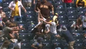 Watch This Woman Make A Miraculous Foul Ball Catch While Holding A Baby