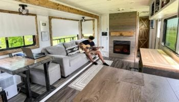 Guy Completely Transforms RV Into A Tiny Home, And The Results Are Stunning