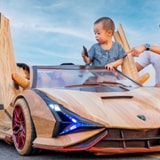Someone Built Their Son A Lamborghini Sian Roadster Made Out Of Wood, And It's The Most Masterful Craftsmanship You'll Ever See