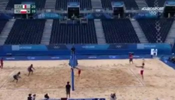 Watch Paolo Nicolai Make An Unbelievable Save During The Tokyo Olympics Beach Volleyball Match