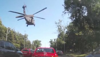 A Blackhawk Helicopter Did An Emergency Landing In Bucharest, And The Down Force Was So Great It Bent The...