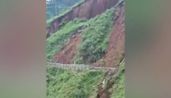 Watch This Terrifying Footage Of An Entire Mountain Collapsing In India
