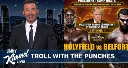 Jimmy Kimmel Roasts Donald Trump For Spending 9/11 At A Boxing Ring Doing Live Commentary