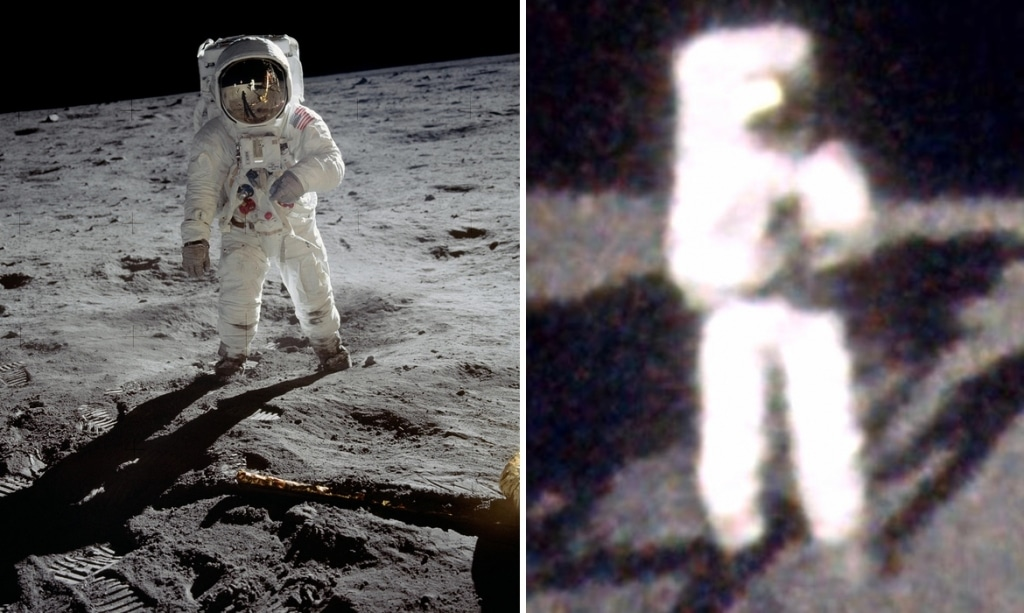 Artist 'Unwraps' NASA Photos To Give Us Buzz Aldrin's Perspective Of The Moon