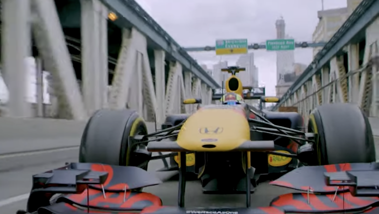 Watch Red Bull's Race Car Speed Through New York City