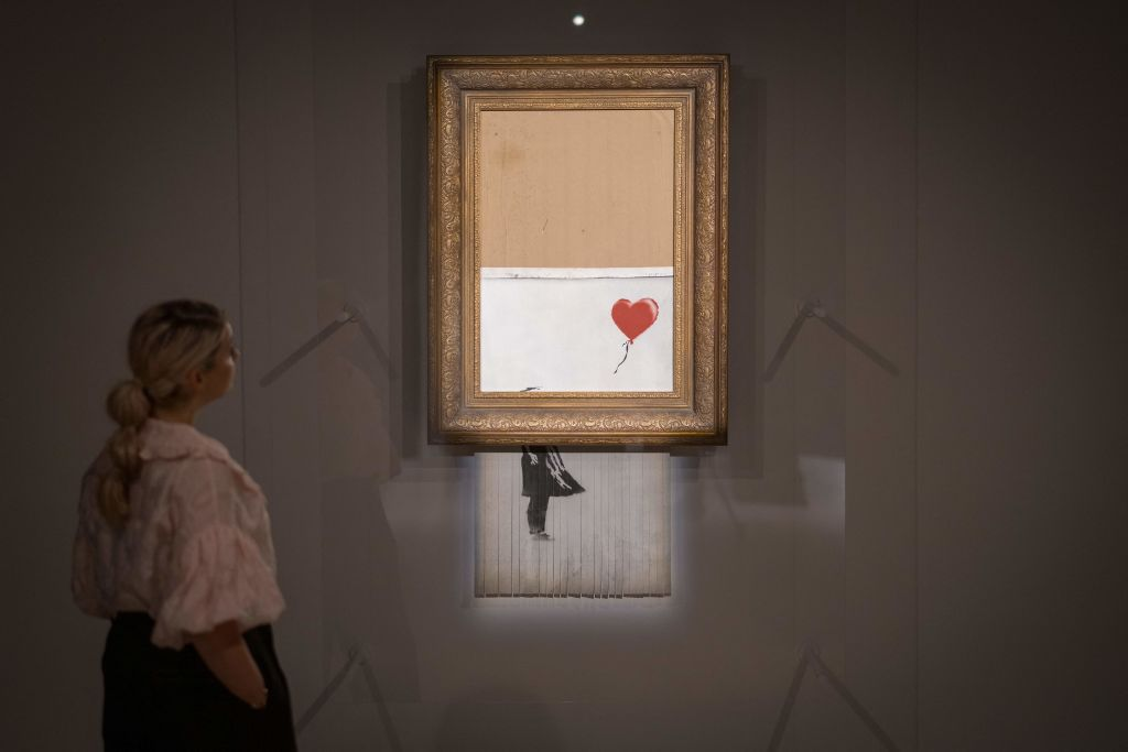 Shredded Banksy Painting Sells For $25 Million During Auction