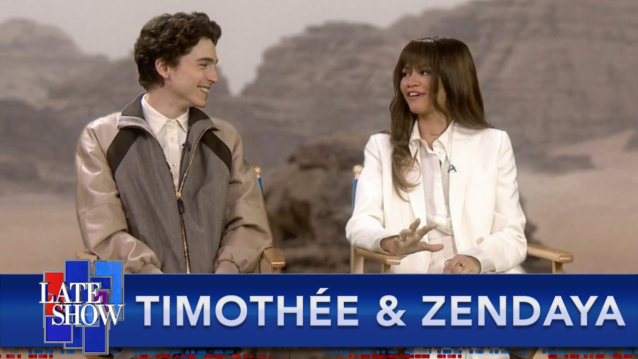 Things Get Awkward When Stephen Colbert Asks 'Dune' Stars Timothe Chalamet And Zendaya If They've Read The...